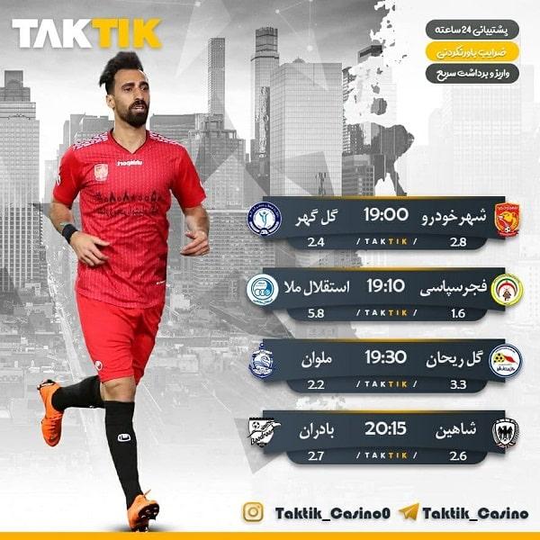 پیش بینی فوتبال امروز بازی های پنج شنبه – 30 اردیبهشت 1400